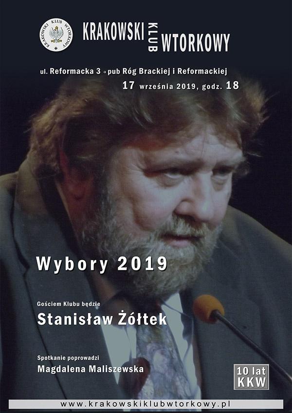 Gościem Klubu będzie Stanisław Żółtek